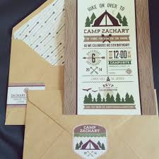Little Camper Theme  EtsyCamping Themed Baby Shower Invitations