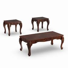 Find the perfect home furnishings at hayneedle, where you can buy online while you explore our room designs and curated looks for tips, ideas & inspiration to help you along the way. Furniture Of America Mariefey 3 Piece Cherry Coffee And End Table Set Overstock 20000790 Dark Cherry