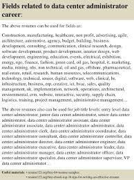 ... 16. Fields related to data center administrator ...