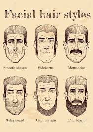 ベクトル フェイシャルヘア スタイルのイラスト ひげ髭無精ひげ