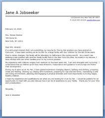 Cover Letter Sample Au Pair Paulkmaloney Com