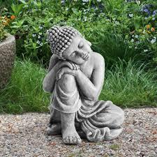 sunjoy gray decorative buddha garden