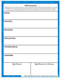 World War One Wwi Sprite Social Studies Graphic Organizer American
