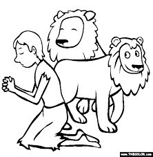 Small Picture Daniel In The Lions Den Coloring Page Free Danie