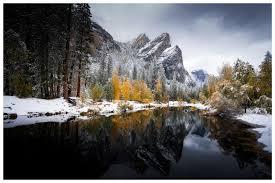 Early Snow Fall at Yosemite National ...
