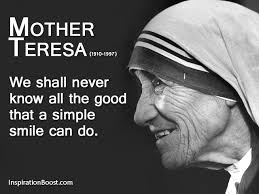 Mother Teresa's Quotes Magnificent Mother Teresa Smile Quote Inspiration Boost