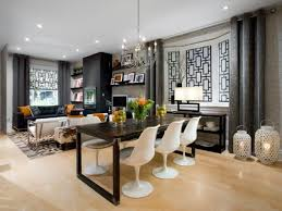 dining room makeover ideas. Dining Room And Living Decorating Ideas Roomdining Makeover From Gutted To Gorgeous Hgtv Designs