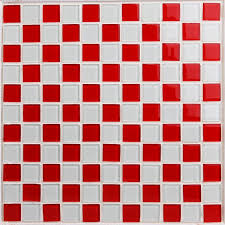 glass mosaic tile sheets kitchen backsplash 3031 red and white crystal bathroom wall tiles