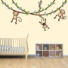 Small Picture Baby Nursery Beautiful Monkey Brown Wall Decals For Nursery