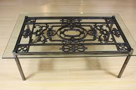 coffee table french wrought iron and glass top coffee table wrought iron outdoor coffee table