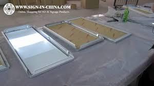 Aluminium Frame Led Light Box Aluminum Frame Pictures Motion Led Super Slim Light Box With 4 Pictures