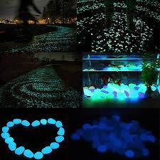 glow in the dark garden pebbles glow stones rocks for walkways garden path white
