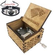 Engraved Wooden Music Box Game Of Thrones Hand Crank Game of Thrones Engraved Wooden Box My Crazy WishList 98