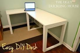make your own office desk. desk simple white l shaped how to build a office interesting make your own