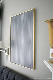 diy art super easy frame for a canvas thrifty decor i