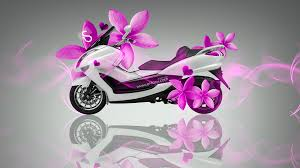 mini moto flowers bike