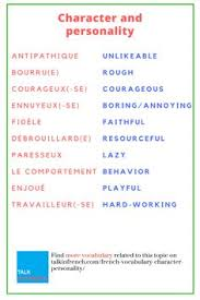 useful french essay phrases french words and language french vocabulary character and personality