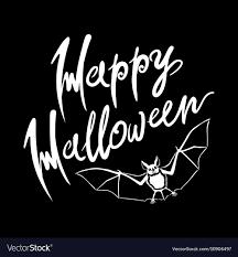 Happy Halloween Bat Message Design Background Eps