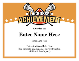 award certificates template lacrosse award certificates templates new for boys and girls