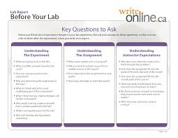 write online lab report writing guide planning and researching lab report key questions to ask before your lab