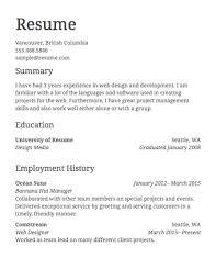 Simple Job Resume Examples Resume Corner