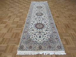 2 7 x 8 4 runner hand knotted ivory persian nain with silk oriental