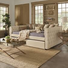 do they make queen size daybeds. Fine Daybeds Shop Knightsbridge Queensize Tufted Nailhead Chesterfield Daybed And  Trundle By INSPIRE Q Artisan  Free Shipping Today Overstockcom 14341348 Intended Do They Make Queen Size Daybeds D
