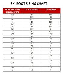Ski Boot Size Chart Ladies Ski Boot Size Chart Kids Ski Boot Size Chart