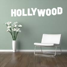 hot text e sign hollywood wall art stickers decal diy home decoration wall mural removable bedroom stickers 88x16cm