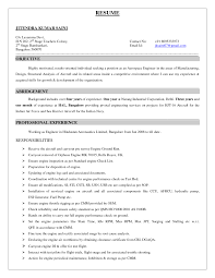 Declaration Format For Resume Resume For Your Job Application