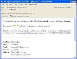 Email Resume Body Sample