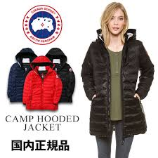 Goose camping hooded jacket Lady s CANADA GOOSE CAMP HOODED JACKET down coat  jacket Japanese regular article 2017 in Canada