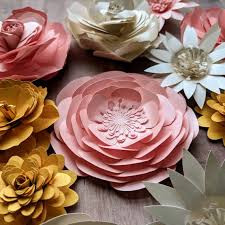 Cardstock Paper Flower Xl Paper Flower Life Size Colorful Paper Flowers Cardstock Etsy