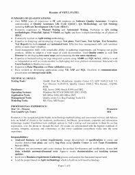 Software Testing Resume Sample Awesome Sample Resume Qa