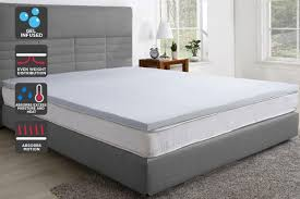 Image Costco Spotlight Trafalgar Gel Infused Memory Foam Mattress Topper With Bamboo Cover queen