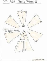 Teepee Pattern Fascinating How To Draw A Teepee New Jessica Nan Diy Adult Teepee Tutorial