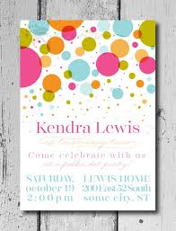 Polka Dot Invitations Polka Dot Party Birthday Invitation Custom Polka Dot