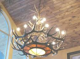 how to make antler chandelier deer
