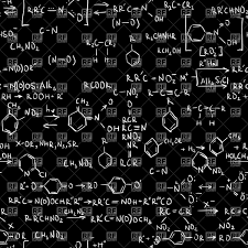 Seamless Black Background With Chemistry Formulas Stock Vector Image