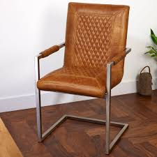 vintage leather carver dining chair brown cerato leather