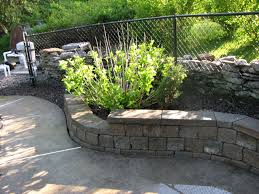 recent stamped retaining wall projects