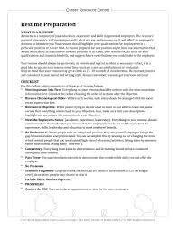 Detailed Resume Resume Outline Guidelines Examples 52
