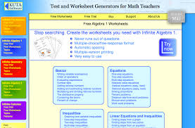 kuto algebra i worksheets
