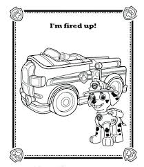 Coloring Pages Paw Patrol Coloring Page Marshall Pages Face Paw