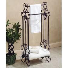 Decorative Bathroom Towels Sets Bathroom Set Ideas With Vintage Free Standing Towel Racks With