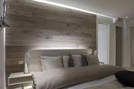 Wood planks or laminate make awesome headboard