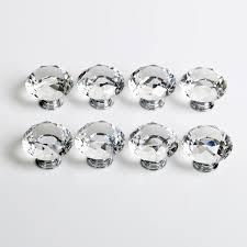 crystal knobs. crystal cupboard door knobs a