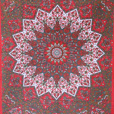 red star elephant tapestry wall hanging