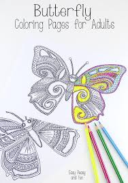 Small Picture Butterfly Coloring Pages for Adults Easy peasy Butterfly and