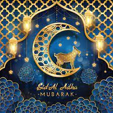 Eid Al Adha Mubarak with Goat and Moon Concept 2411744 Vector Art at  Vecteezy